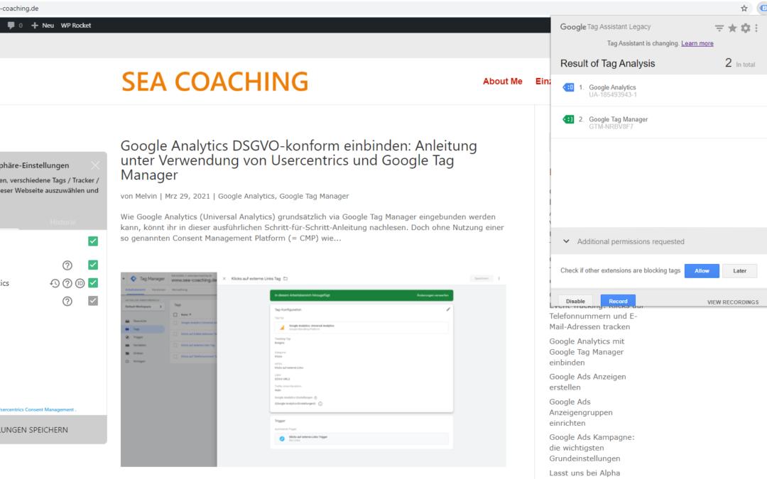 Google Analytics DSGVO-konform einbinden: Anleitung unter Verwendung von Usercentrics und Google Tag Manager