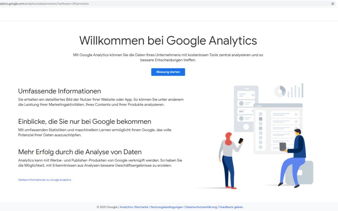 Google Analytics mit Google Tag Manager einbinden